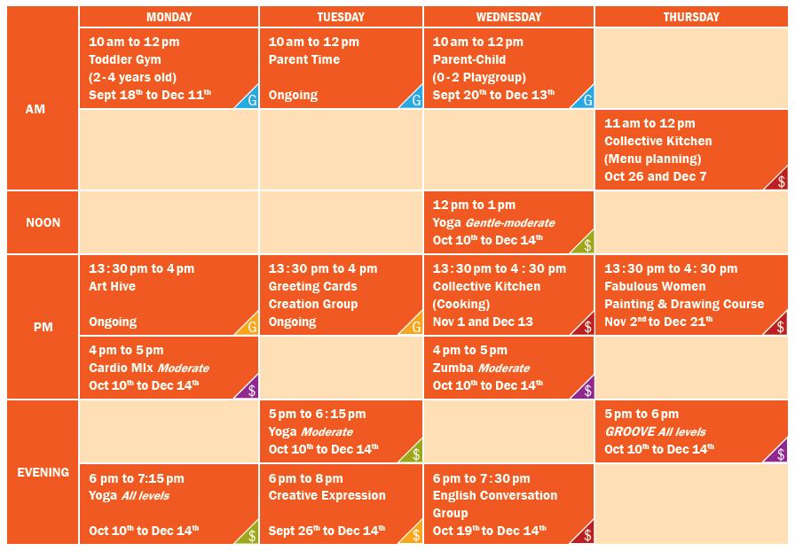 YWCA-Schedule-A2017_calendrier