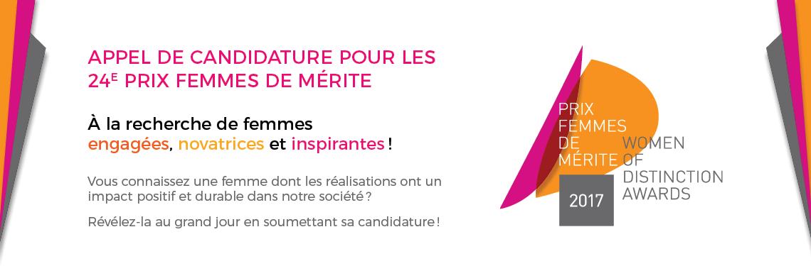 Fondation Appel Candidatures femmes de merite 2017