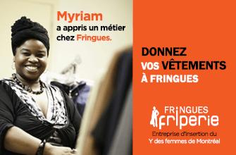 Myriam a appris un métier chez Fringues