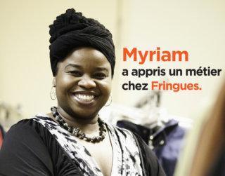photo Myriam a appris un métier chez Fringues