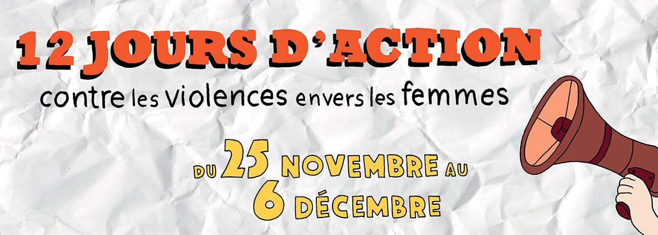 12 jours d'action contre les violences envers les femmes