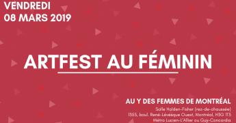 Artfest au féminin 8 mars Journée internationale des femmes 2019